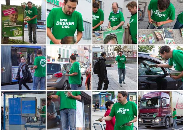 Wahlkampf der Grünen als Fotostoy
