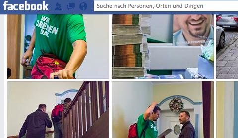 Wahlkamp auf Facebook