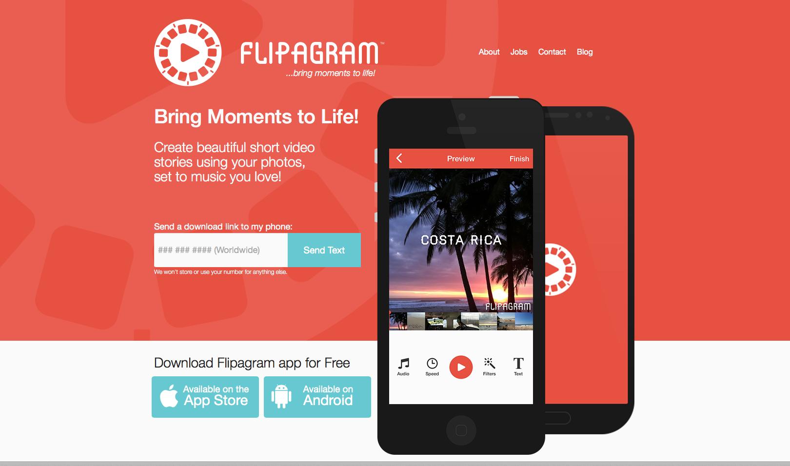 Erstellung von Videos aus Instagram Bildern und mehr mit der Flopagram App.