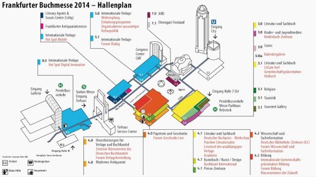 Hallenplan der Frankfurter Buchmesse 2014