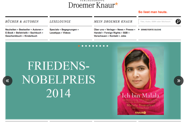 Droemer Knaur Website