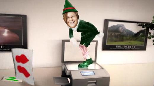 Im Büro tanzen die Puppen - nein, die Elfen