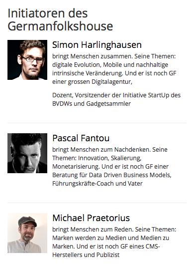 Die Initiatoren vom German Folks House in Austin sind Curt Simon Harlinghausen, Michael Praetorius und Pascal Fantou.