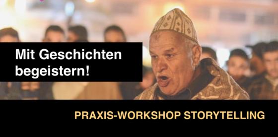 Mit Geschichten begeistern - ist das Thema des Praxis-Workdhops Storytelling