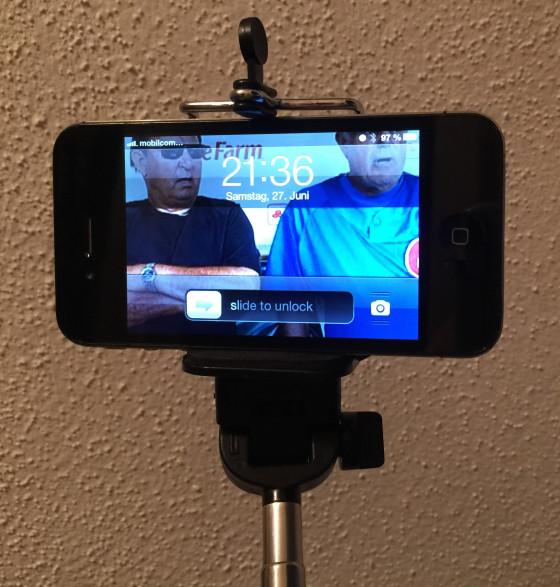 Selfie-Stick als Smartphone-Gadget