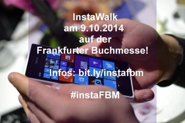 InstaWalk auf der Buchmese in Frankfurt #instafbm am 9.10.2014
