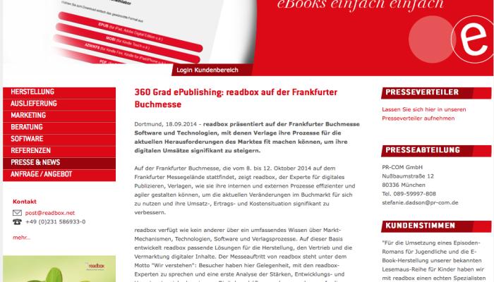 readbox präsentiert sich den InstaWalkern auf der Frankfurter Buchmesse.