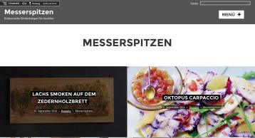 Der neue kulinarische Blog www.messerspitzen.de.