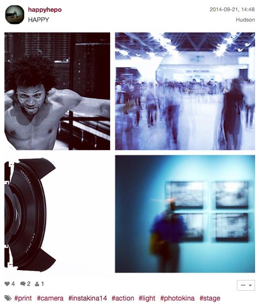 Zweite Platz der #instakina14, der Instagram Challenge der Photokina, für@happyhepo.