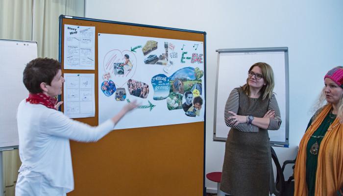 Visual Storytelling: Eine Arbeitsgruppe stellt ihr Konzept vor.