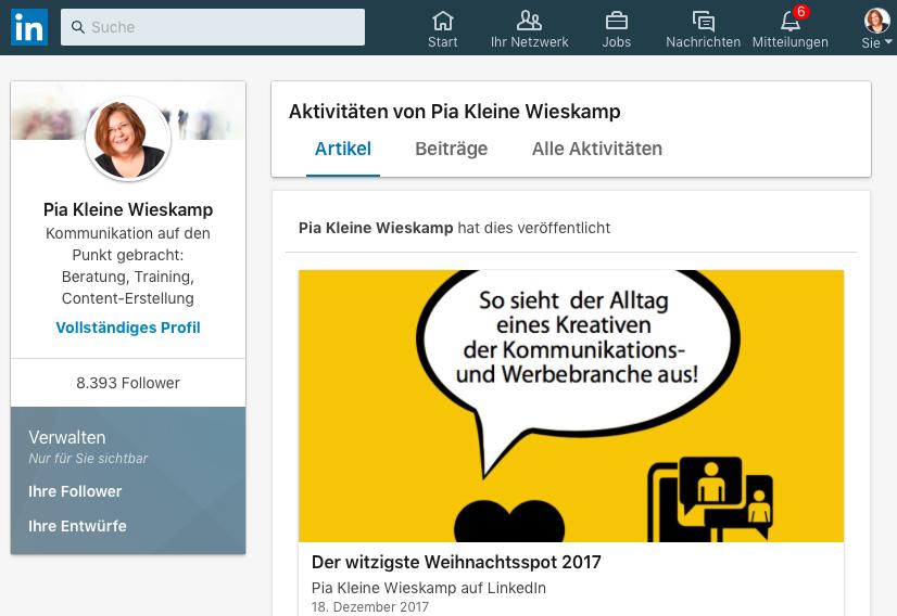 Bloggen mit LinkedIn Pulse kann ein guter Einstieg on die Bloggospsphäre sein.