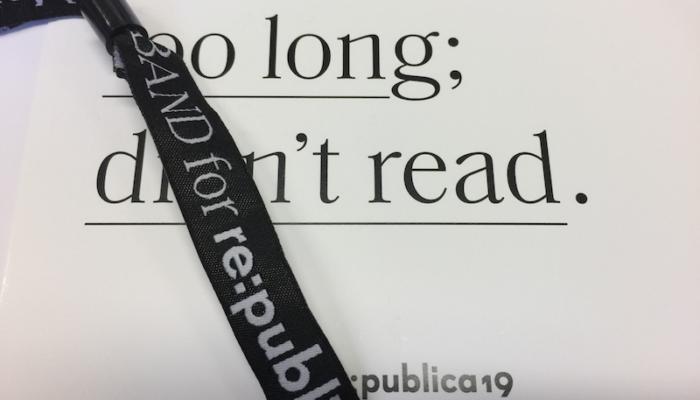 Mein persönlicher Rückblick zur Digitalkonferenz re:publica 2019 in Berlin. #rp19.