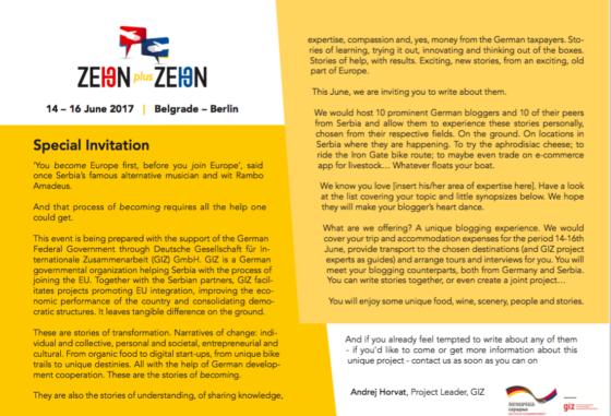 Einladung zum Event Zehn plus Zehn