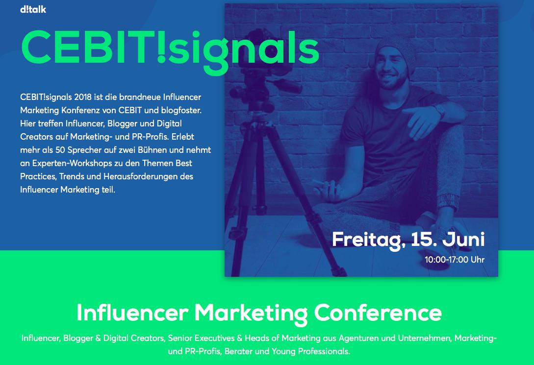 Das Blogger- und Influencer-Treffen auf der CeBIT 2018